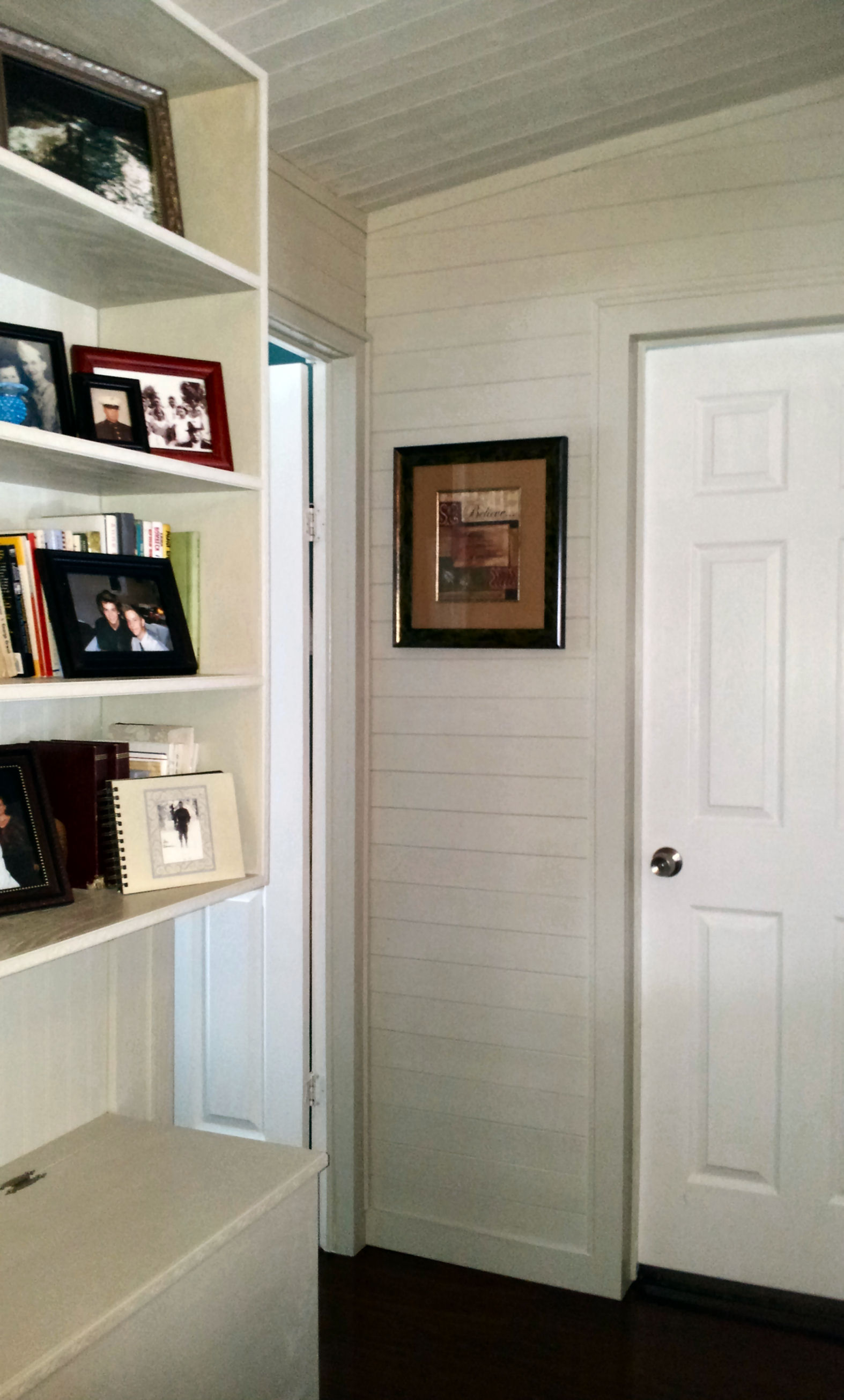 Small bedroom door with no hall separation. Mobile Home Living Room Remodel  The Finale   My Mobile Home Makeover