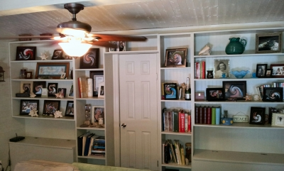 Book shelves from above