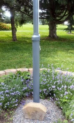 Flag Pole in concrete