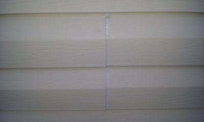 Problems with siding expansion after painting the house.