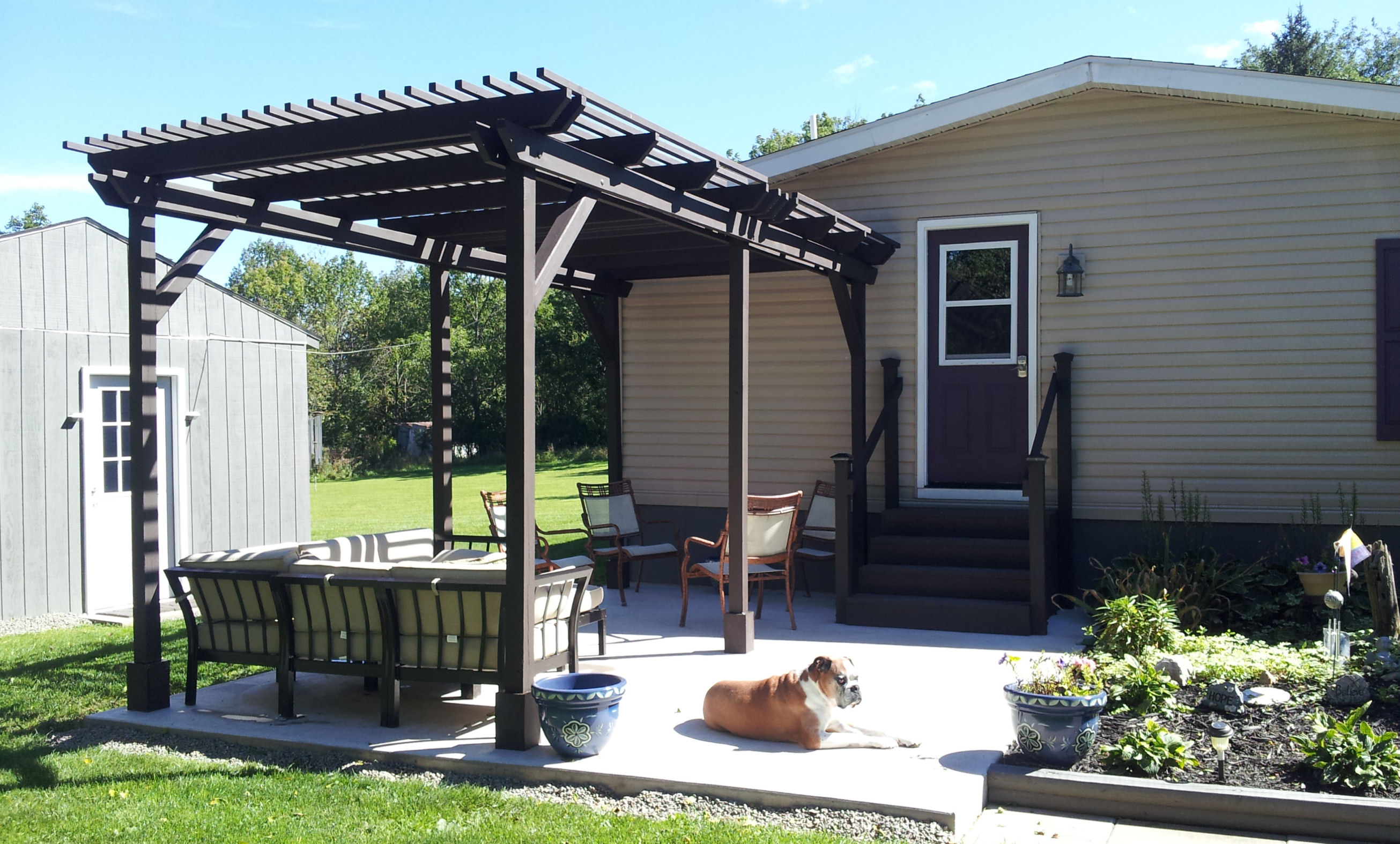 we built a pergola my mobile home makeover