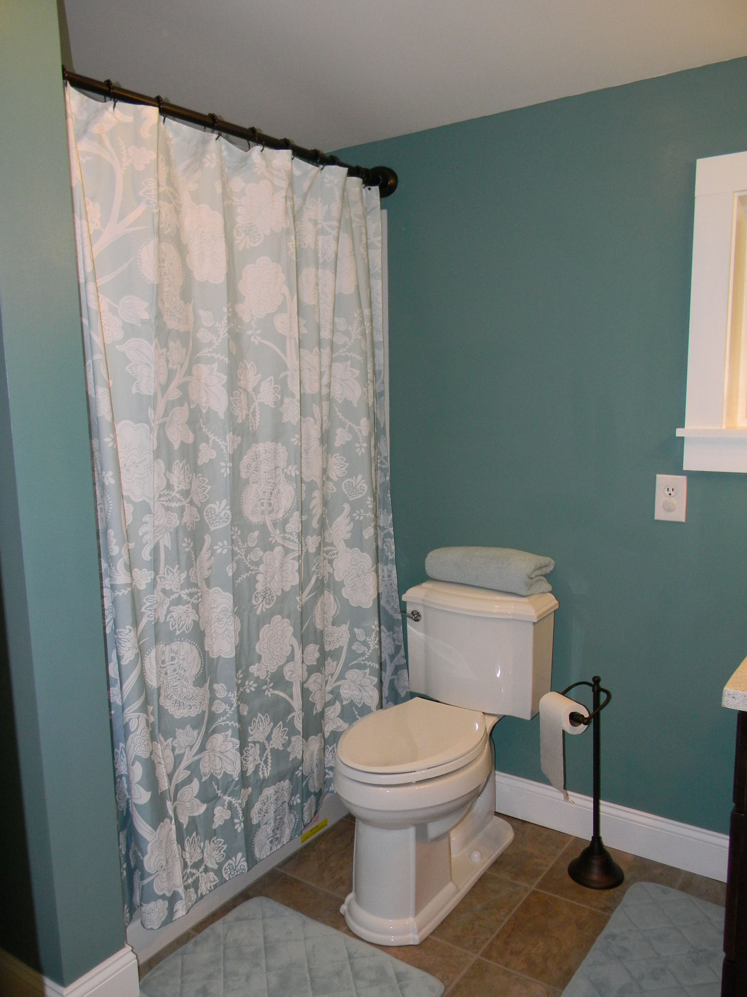 Giving the throne the royal treatment final mobile home for Home bathroom remodel