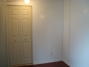 New bedroom closet/ hidden closet on the other side of white wall