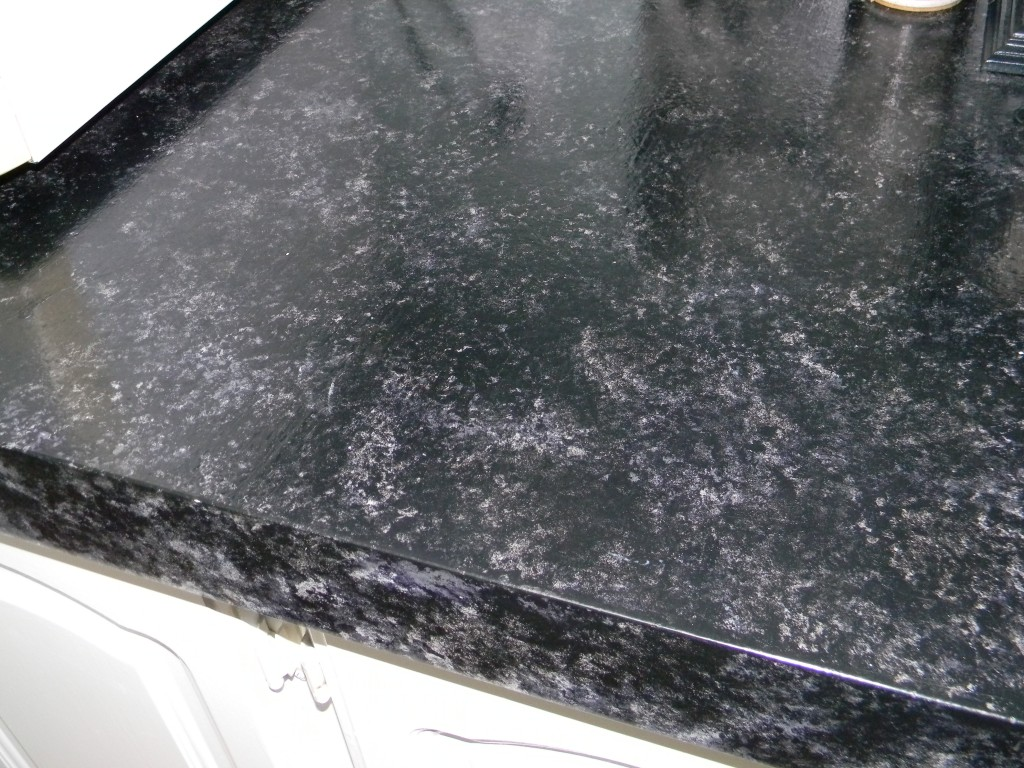 Painted Faux Granite Counter Top My Mobile Home Makeover