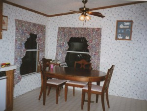 Original Mobile Home Dining Area