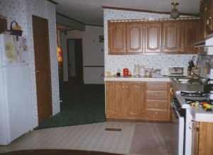 Original Mobile Home Kitchen
