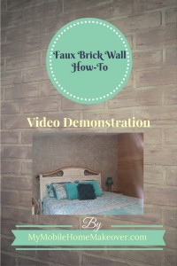 Faux brick wall installation and finish